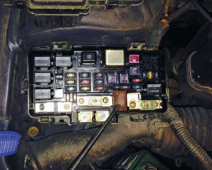 The ELD unit is easy to access in the underhood fuse box.
