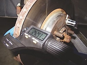 """Rotor thickness should be measured in at least six areas of the rotor's face. Generally speaking, the DTV should not vary more than .001"""". Some manufacturers specify zero DTV."""