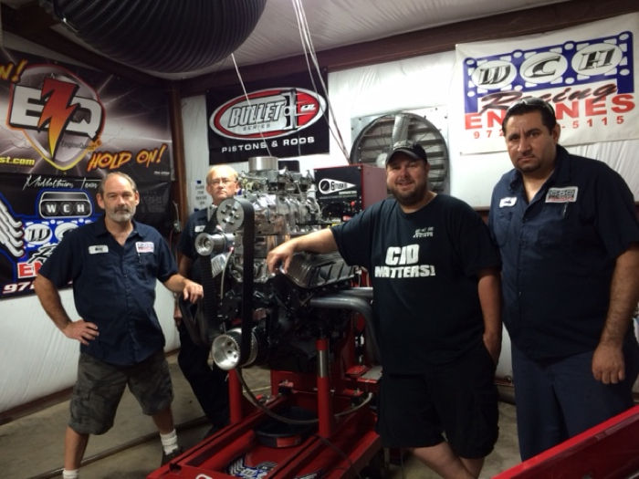 "The WCH Racing Engines crew. From left: Mark Allen Earl; Mike Morphew; Jammie Wells; and Manuel ""Pepe"" Cerda."