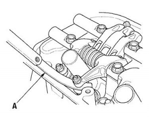 Valve Adjustment: Check clearance between the screw and the valve stem.