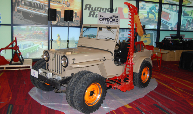 Restored 1946 Jeep CJ-2A with Farm Jeep options was part of Off Road Success section of the 2015 SEMA Show.