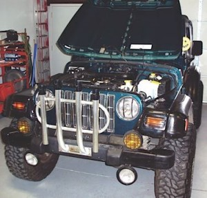 """Money was no object to the owner in repairing the electrical damage to his """"decked-out"""" '98 Wrangler."""