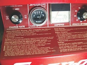 My home battery charger is more than 20 years old, but the charge rate on full boost is limited to 16.0 volts. The voltmeter is an aftermarket add-on I use to monitor charging voltage.