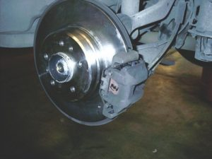 Photo 2: Start any vehicle stability diagnosis with a brake evaluation.