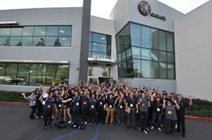 Engineering students attended a Career Day at the SEMA Garage in February.