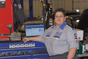 kipp wierenga's love for the automotive repair  business stems from her childhood days when she used to play with the tools in her father's toolbox.
