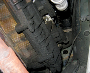 photo 3: oil leaks are often an indicator of other problems.