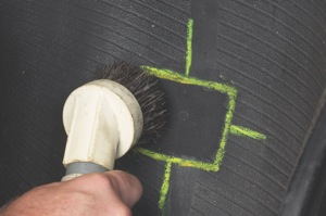 use a vacuum to completely remove the buffing dust.