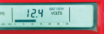 photo 1: a battery should maintain at least 12.4 volts across its terminals before it's load tested.
