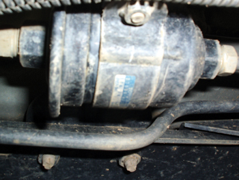 photo 2: if a fuel filter appears old and neglected, it's probably due for replacement.
