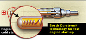 "Manufacturers and engineers continually work at improving glow plug technology, especially in trying to reduce glow plug damage due to over voltage and heating. Since the late 1990's, most diesel engine control systems were designed to keep the glow plugs ""turned on"" while the engine is cranking and for a brief period after the engine begins to run. This  feature, called ""post glow,"" enhances engine combustion for improved emissions and provides for a smoother idle during initial cold weather start conditions. The"