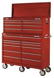 a new tool chest and roller cabinet was awarded to acc by waterloo industries.